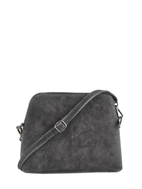 Shoulder Bag Velvet Leather Milano Gray velvet VE19041 other view 2