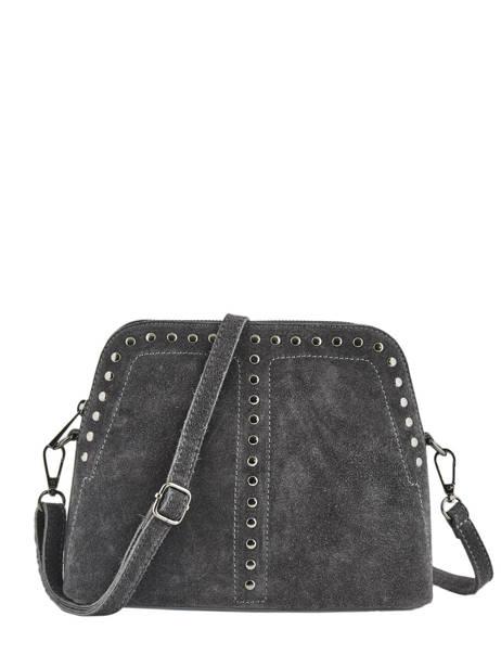 Shoulder Bag Velvet Leather Milano Gray velvet VE19041