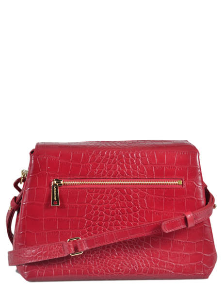 Sac Bandoulière Exotic Croco Lancaster Rouge exotic croco 526-95 vue secondaire 3