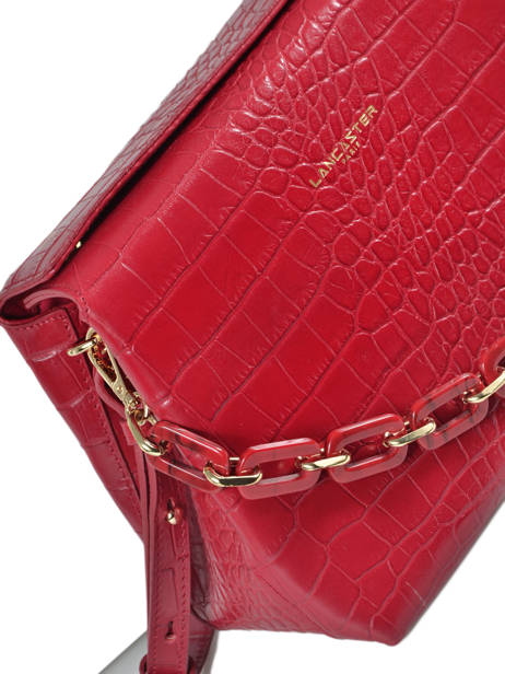 Sac Bandoulière Exotic Croco Lancaster Rouge exotic croco 526-95 vue secondaire 1