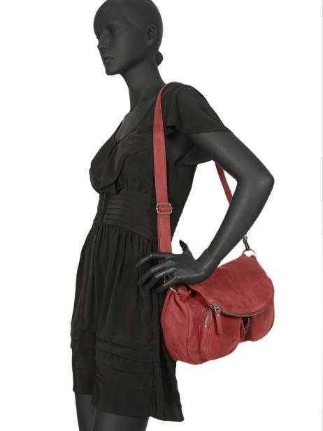 Crossbody Bag Lola Leather Nat et nin Red vintage LOLA other view 2