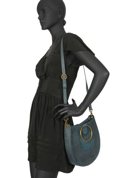 Sac Bandoulière Brooke Cuir Nat et nin Bleu vintage BROOKE vue secondaire 2