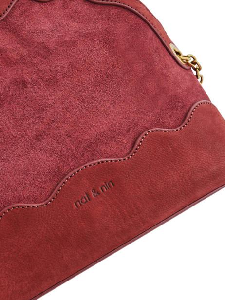 Crossbody Bag Juliet Leather Nat et nin Red vintage JULIET other view 1