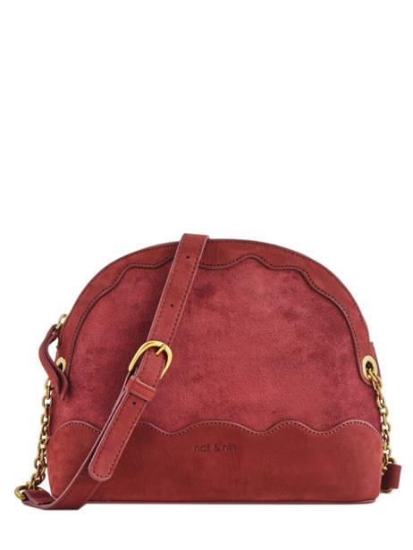 Crossbody Bag Juliet Leather Nat et nin Red vintage JULIET
