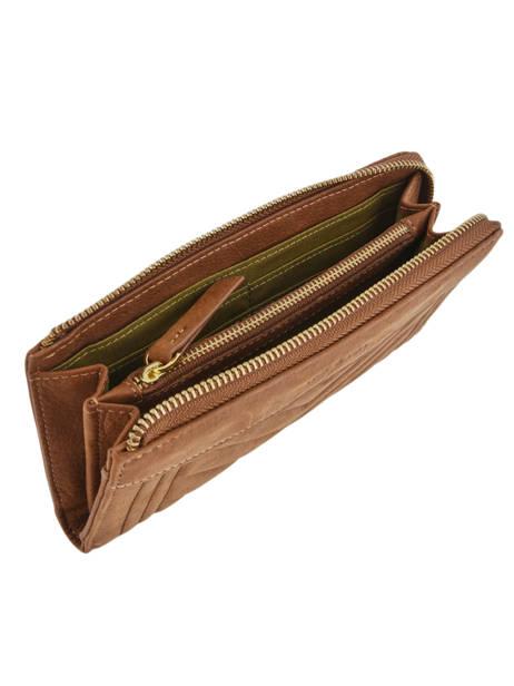 Wallet Leather Nat et nin Brown vintage LENA other view 1