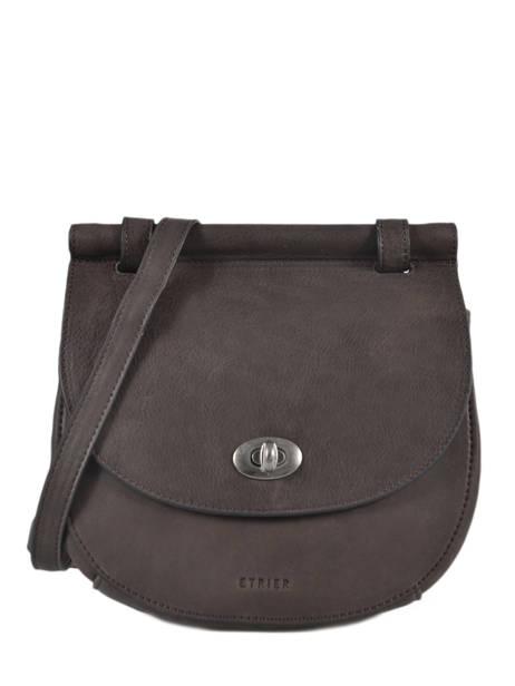 Shoulder Bag Casac Leather Etrier Brown casac ECAS02