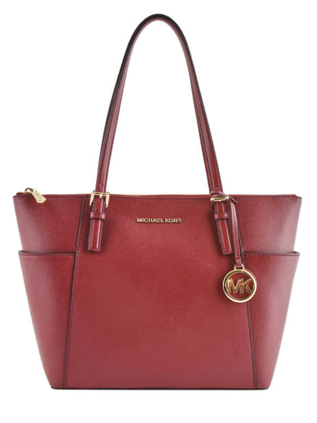 Shopping Bag Jet Set Item Leather Michael kors Red jet set item F2GTTT8L