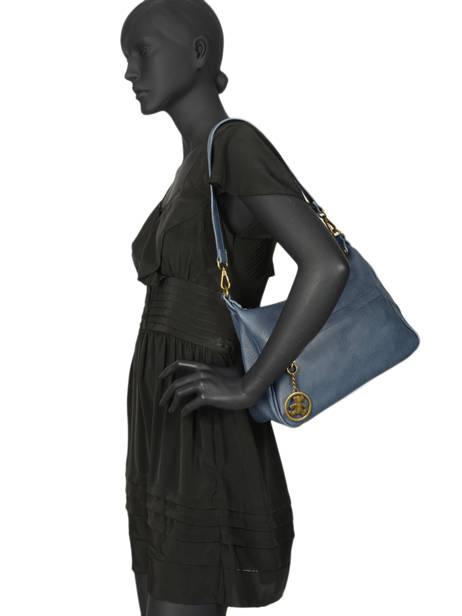 Shoulder Bag Vintage Lulu castagnette Blue vintage LANIA other view 1