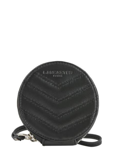 Porte-monnaie Cuir Lancaster Noir parisienne matelasse 122-25