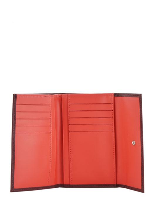 Longchamp Roseau Portefeuilles Rouge