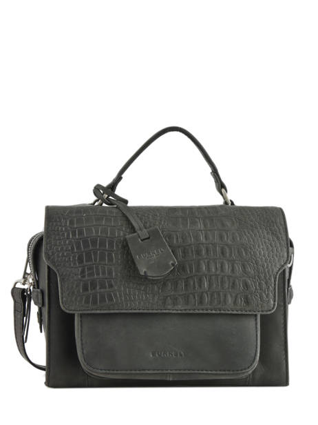 Sac Bandoulière About Ally Cuir Burkely Noir about ally 545429