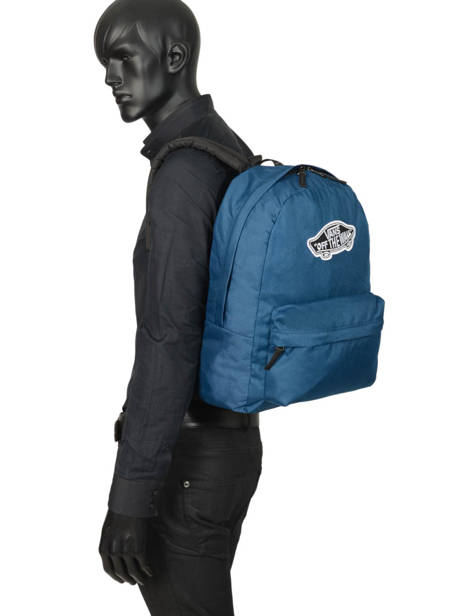 Sac à Dos 1 Compartiment + Pc 15'' Vans Noir backpack men VN0A3UI6 vue secondaire 2