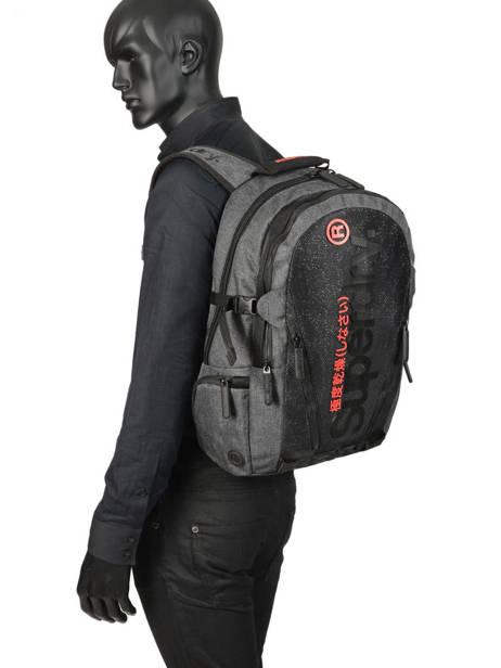 Sac à Dos 2 Compartiments + Pc 15'' Superdry Gris backpack men M9100010 vue secondaire 2