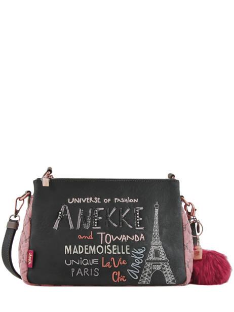 Sac Bandoulière Couture Anekke Noir couture 29882-75