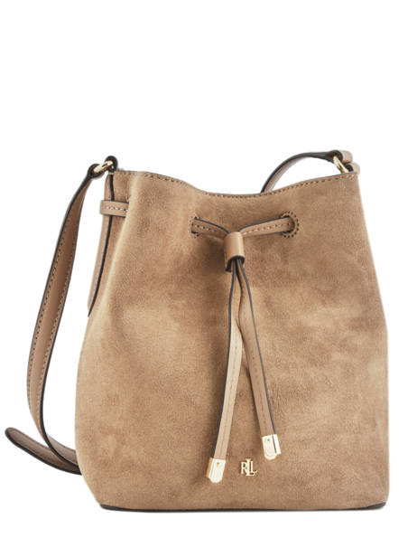 Small Leather Bucket Bag Debby Lauren ralph lauren Brown dryden 31764353