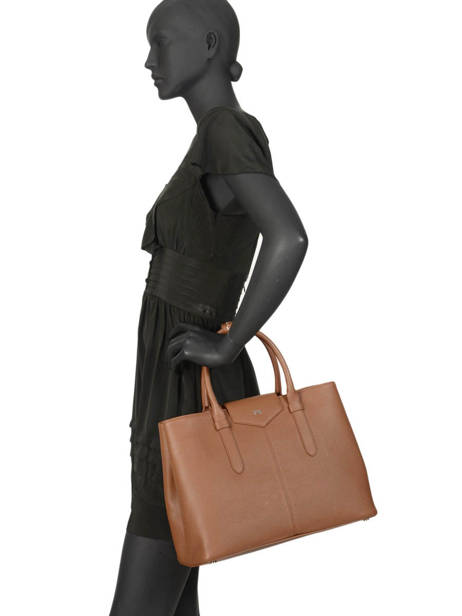Shopping Bag Les Marquises Leather Nathan baume Brown les marquises N1720104 other view 2