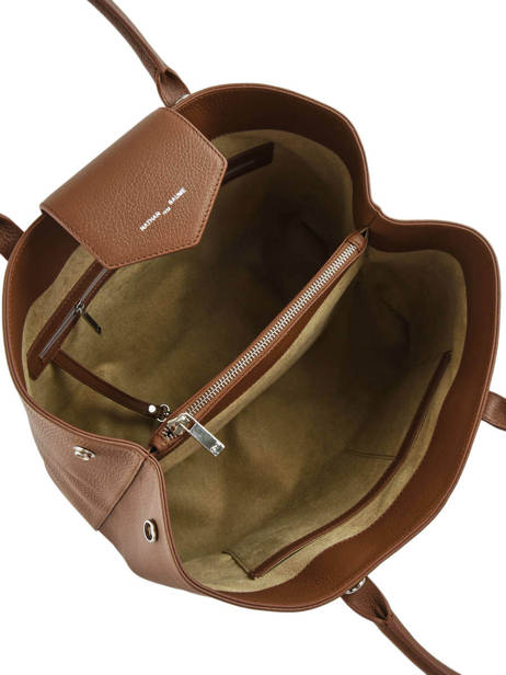 Shopping Bag Les Marquises Leather Nathan baume Brown les marquises N1720104 other view 4