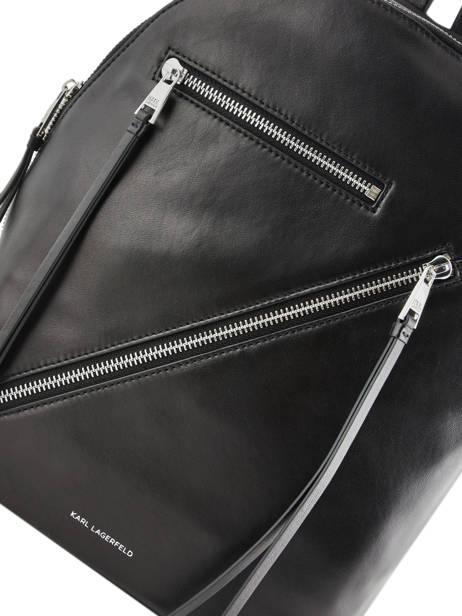 Leather Backpack K Odina Karl lagerfeld Black k odina 96KW3050 other view 1