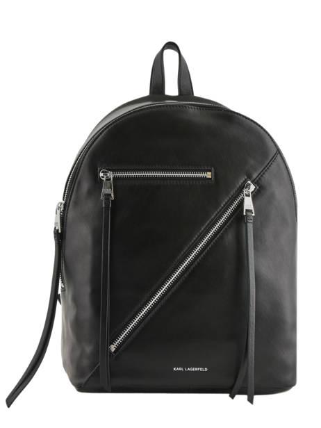 Leather Backpack K Odina Karl lagerfeld Black k odina 96KW3050