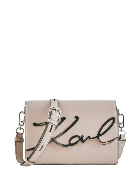 Shoulder Bag K Signature Leather Karl lagerfeld Pink k signature 81KW3057