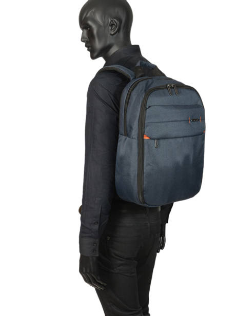 Backpack 15'' Laptop Samsonite Blue network 3 CC8005 other view 2