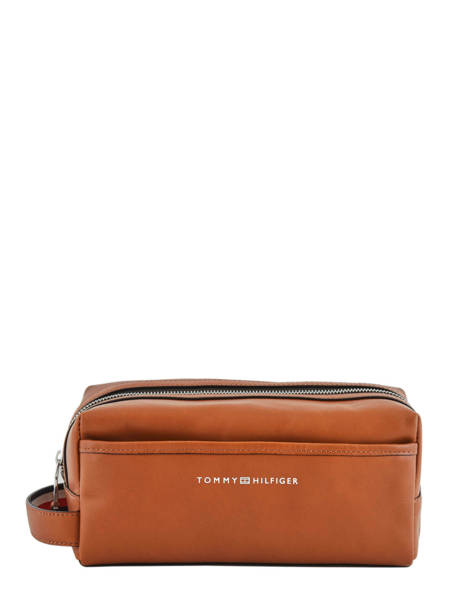Leather Toiletry Case Casual Tommy hilfiger Brown casual leather AM05316