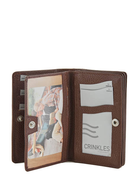 Wallet Leather Crinkles Brown 14049 other view 3