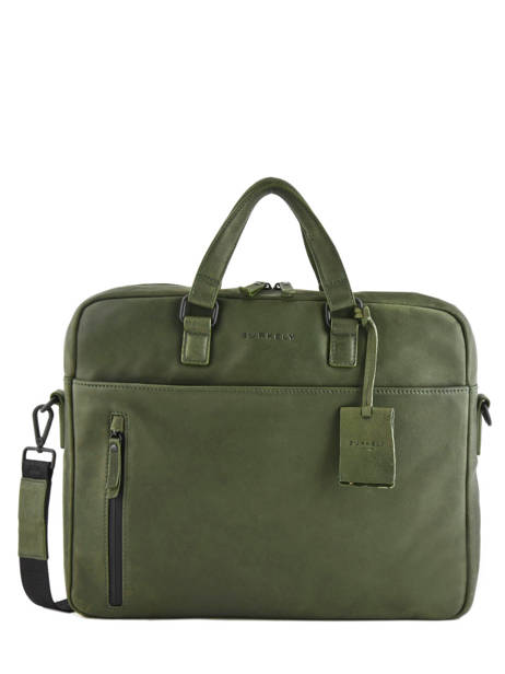 Leather Business Bag Rain Riley Burkely Black rain riley 548352