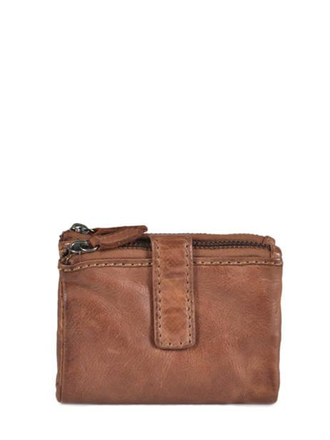 Purse Leather Basilic pepper Brown new zipper BNZI92