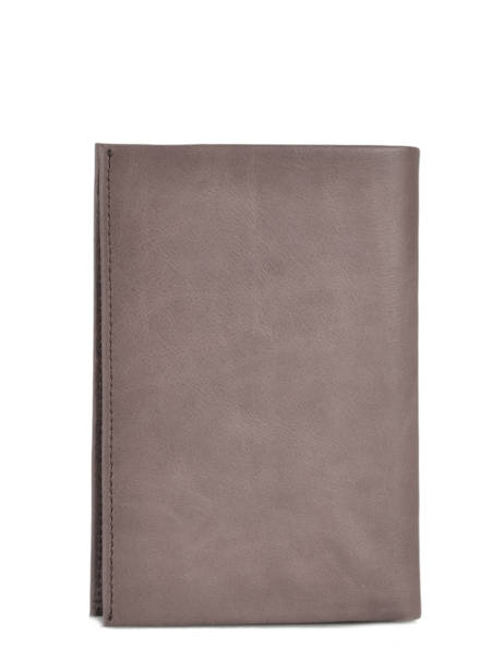 Leather Edge Wallet Serge blanco Brown edge EDG21021 other view 3