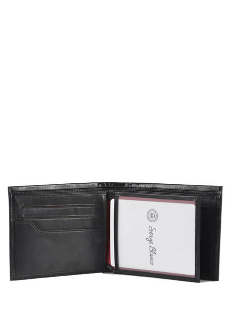 Leather Edge Wallet Serge blanco Black edge EDG21044 other view 2
