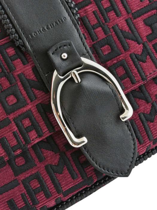 Longchamp Amazone lgp brodÉ Besaces Violet