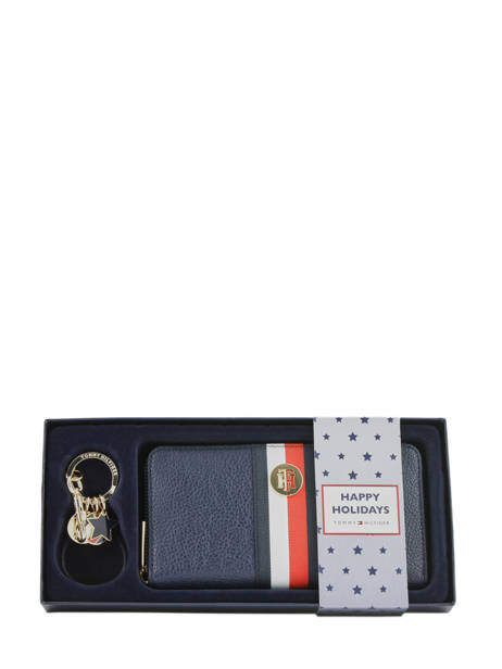 Gift Box Wallet And Keychain Tommy hilfiger Blue th core AW07600