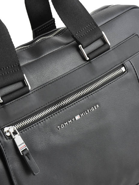 Porte-documents 1 Compartiment + Pc 15'' Tommy hilfiger Noir th metropolitan AM05439 vue secondaire 1