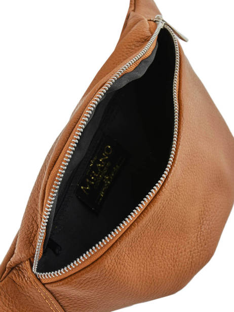 Leather Belt Bag Caviar Milano Brown CA19093 other view 3