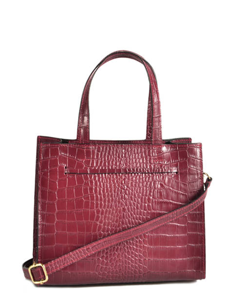 Leather Croco Bow Satchel Milano Red CR19091 other view 2