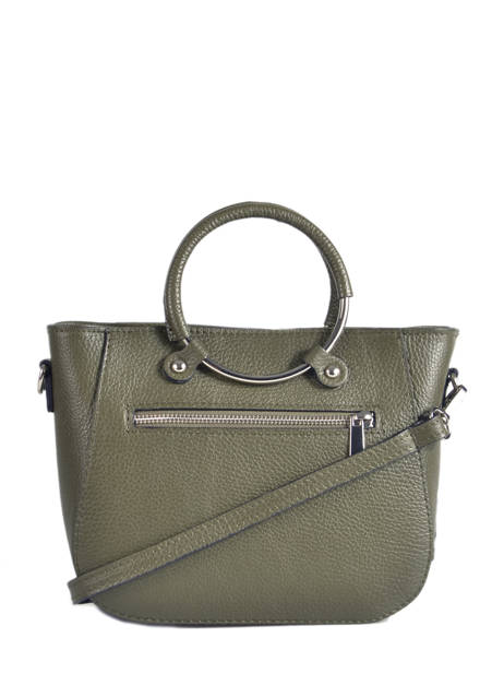 Shopping Bag  Leather Milano Green CA17061 other view 2
