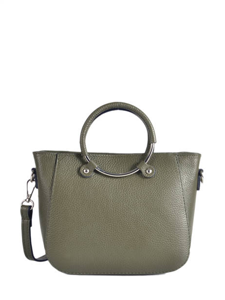 Shopping Bag  Leather Milano Green CA17061