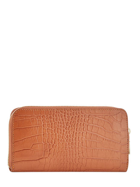 Leather Croco Wallet Milano Orange CR18115 other view 2