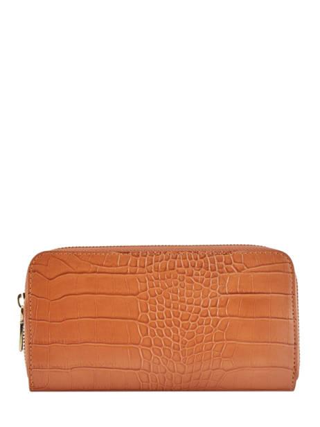 Leather Croco Wallet Milano Orange CR18115
