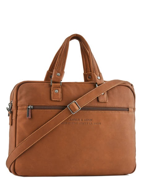 Large Leather Business Bag Bart Arthur et aston Brown bart 1978-02 other view 3