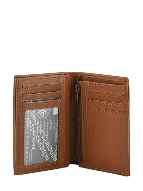Leather Bart Wallet Arthur et aston Brown bart 1978-127 other view 3