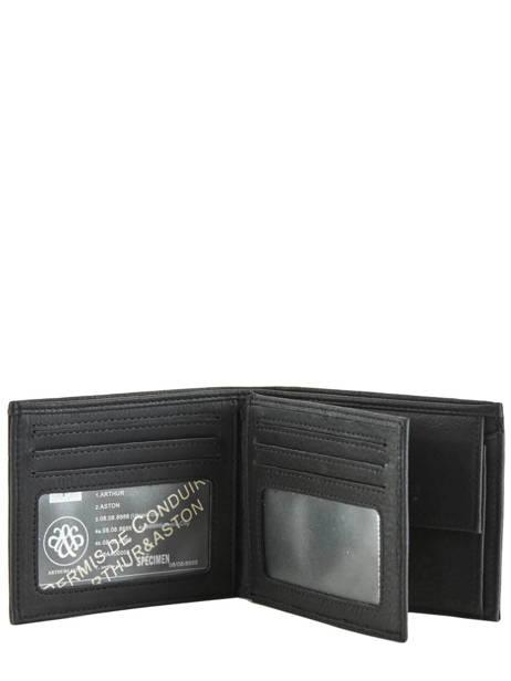 Wallet Leather Arthur et aston Black bart 1978-126 other view 2