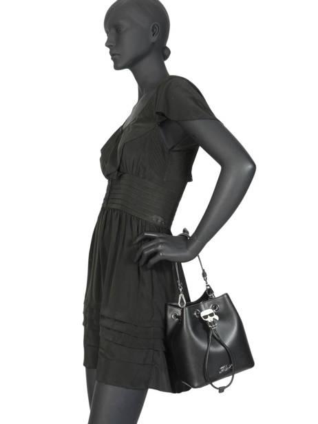 Leather Bucket Bag K Ikonik Karl lagerfeld Black ikonik 201W3095 other view 2
