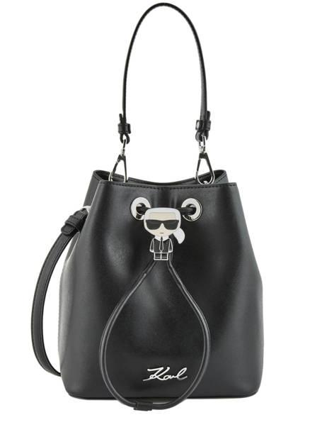 Leather Bucket Bag K Ikonik Karl lagerfeld Black ikonik 201W3095