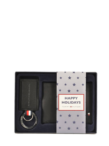 Gift Box Wallet And Keychain Tommy hilfiger Black modern tommy AM05670