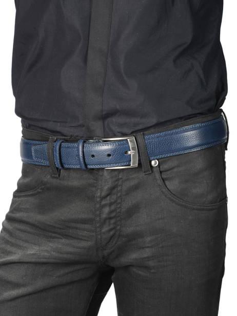 Men's Belt Extra Petit prix cuir Blue extra 290-40 other view 2
