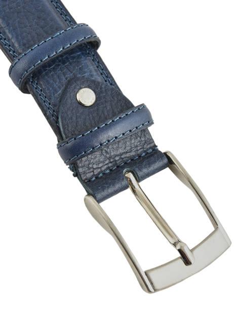 Men's Belt Extra Petit prix cuir Blue extra 290-40 other view 1
