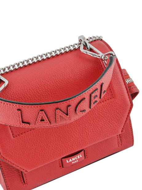 Top Handle S Ninon Leather Lancel Red ninon A09221 other view 1