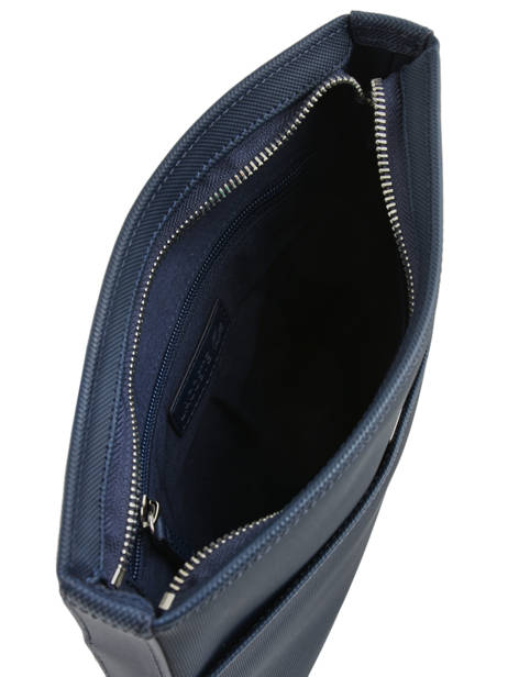 Sac Bandoulière Lacoste Bleu men's classic NH2850HC vue secondaire 4